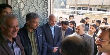 فیلم| حضور یک ساعته قالیباف در صف انتخابات