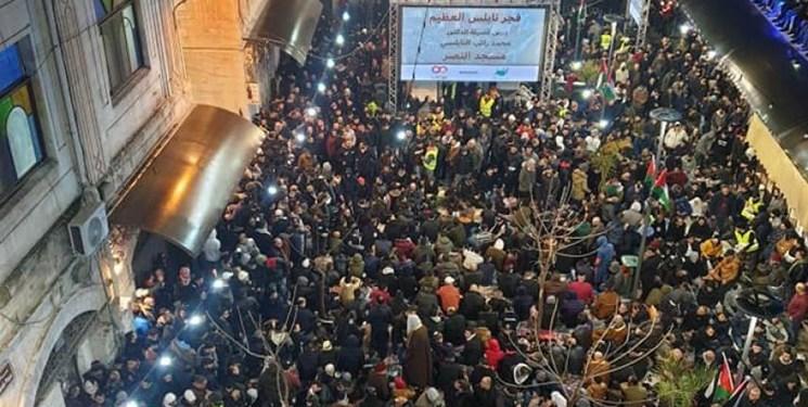 تصاویر | لبیک فلسطینیها به پویش «فجر عظیم» در حمایت از قدس و مسجدالاقصی