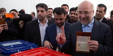 قالیباف در صف رأی حاشیه تهران