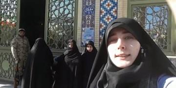 سلفی افتخار| پیام جوان شهرکردی به مسیح علینژاد از صف رایگیری