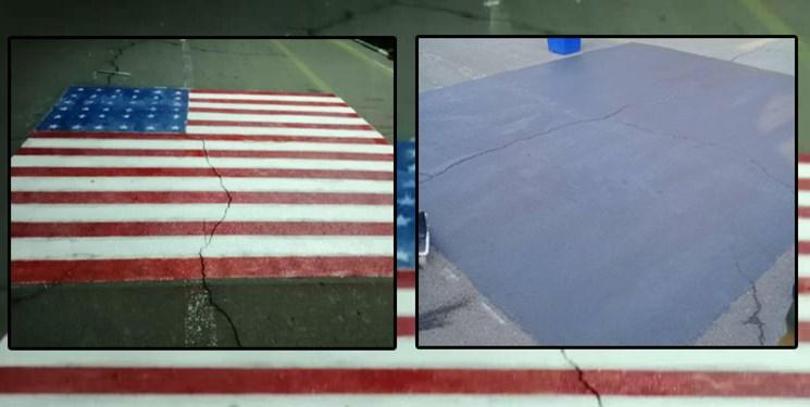 انتقاد به پاککردن تصویر پرچم آمریکا از زیرپای دانشگاهیان در دانشگاه علامه