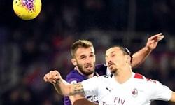 سری آ ایتالیا| تساوی میلان مقابل فیورنتینای 10 نفره/ گل ربیچ پرپر شد