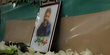 فیلم| وداع با پیکر شهید امنیت «احمد توکلی»