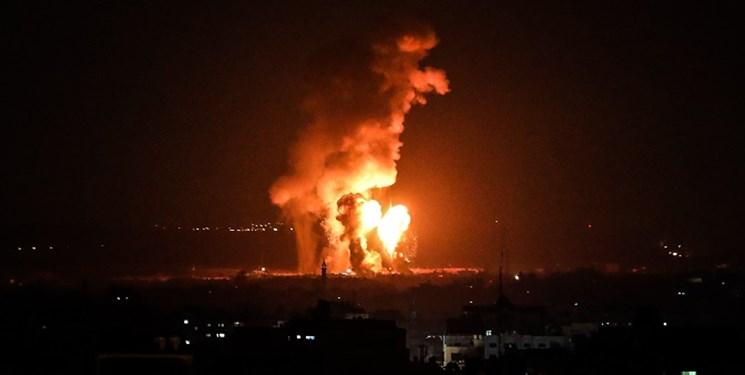 بالگردهای رژیم صهیونیستی شرق غزه را هدف قرار دادند