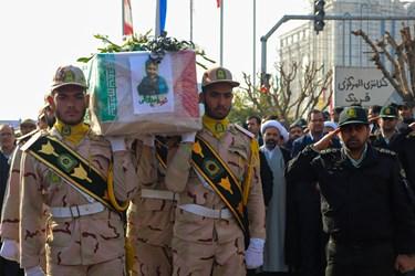 مراسم تشییع پیکر تک پسر خانواده شهید «احمد توکلی»