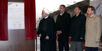 قطعه ۱ آزادراه تهران - شمال با حضور رئیسجمهور افتتاح شد