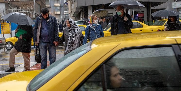 بارش باران در تهران/ ۶ اسفند ۹۸
