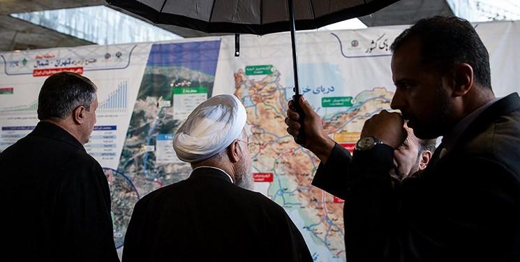 افتتاح آزادراه تهران-شمال با حضور رئیس جمهور
