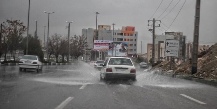 آبگرفتگی و حال و هوای شهر ایلام در یک روز بارانی