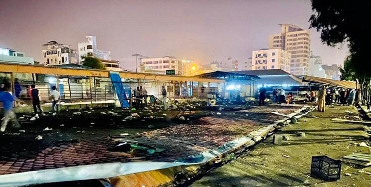 بازار «ماهیفروشان» بندرعباس شبانه تخریب شد+فیلم و عکس