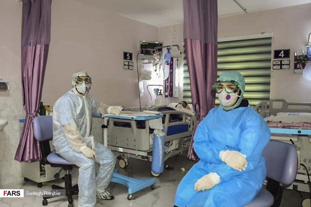 بخش ویژه «بیماران کرونا» بیمارستان امام رضا (ع) تبریز