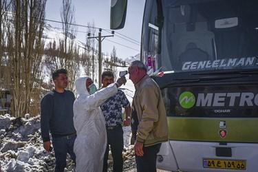 تست کرونا در ورودی مازندران