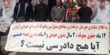 کارگران شهرداری  آبژدان ۱۴ ماه حقوق نگرفتند