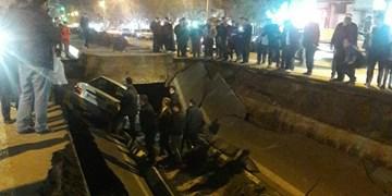 نشست زمین در تبریز  با6 مصدوم + عکس