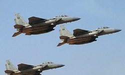 حملات هوایی گسترده ائتلاف سعودی به 5 استان یمن
