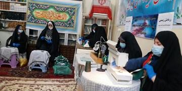 کار جهادی خواهران بسیجی تبریز درتولید ماسک پزشکی/سنگر، ماسک، ایثار