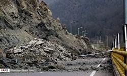 ریزش کوه در آزادراه تهران ـ شمال/ آزادراه تا اطلاع ثانوی مسدود است