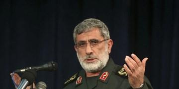 سردار قاآنی: شاهد پشتیبانی ارتش از محور مقاومت و تقدیم شهیدان مدافع حرم بودهایم