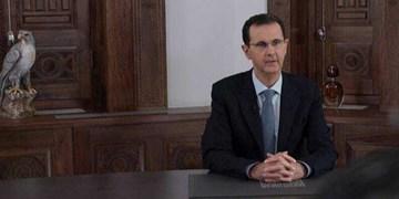 تصاویر | ماجرای دکور سخنرانی اخیر بشار اسد