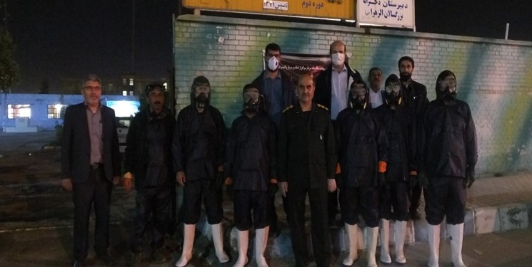 حماسهای دیگر از سبزپوشان سپاه در خط مقدم مبارزه با کرونا