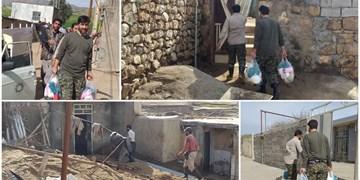 توزیع بستههای بهداشتی و معیشتی توسط جهادگران پلدختری/ نیازمند حمایت سازمانها هستیم