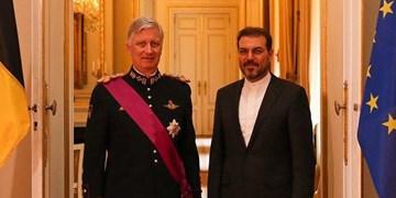 سفیر جدید ایران استوارنامه خود را تقدیم پادشاه بلژیک کرد