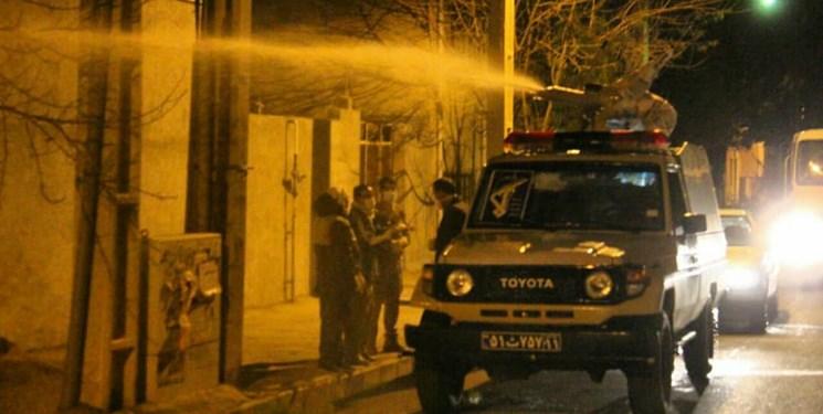 نیروهای سپاه پاسداران در خط مقدم نبرد با کرونا