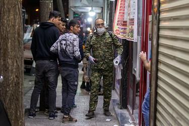 ضدعفونی جنوب شهر تهران توسط بسیج