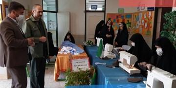 کارگاه تولید ماسک در شهرستان کیار راه اندازی شد