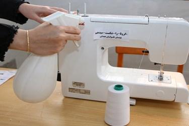 کارگاه تولید ماسک توسط گروه های جهادی