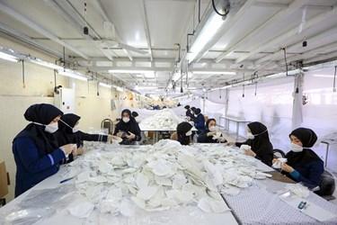 راهاندازی خط تولید ماسک در روستای «یکنآباد» همدان