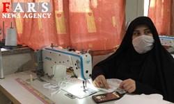 فیلم| روایت بانوی جهادگر از تولید ماسک رایگان