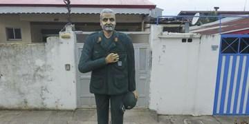 ترس دشمن از مجسمه سردار سلیمانی/ مجسمهای که پیش از اتمام کار سوژه رسانههای خارجی شد + فیلم