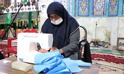 تولید روزانه 4 هزار ماسک و توزیع خانه به خانه توسط موکب خاتمالانبیاء در رفسنجان