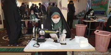 اداره اوقاف آزادشهر با کمک مردم ماسک تولید میکند