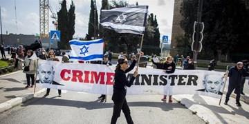 تظاهرات در مقابل کنست/ صهیونیستها، نتانیاهو را «جنایتکار» خواندند