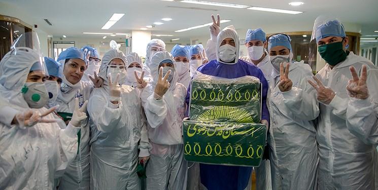 توزیع غذای متبرک رضوی میان بیماران مبتلا به کرونا در تهران