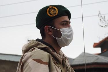 عکس| رزمایش دفاع بیولوژیک تیپ مخصوص میرزا کوچک خان در لنگرود