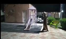 فیلم|ضدعفونی کردن معابر شهر آبادان توسط امام جمعه