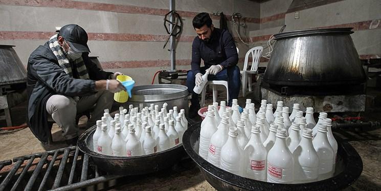 توزیع ۱۸۰ هزار لیتر مواد ضد عفونیکننده میان گروههای جهادی