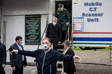 بازدید رئیس مجلس از بیمارستان صحرایی سپاه