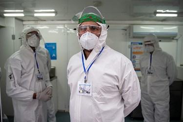پزشک بخش ICU صحرایی شهید صدوقی نیروی زمینی سپاه