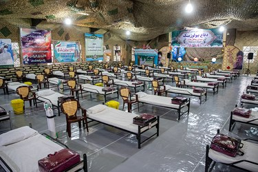 بخش نگاهتگاه خواهران بیمارستان صحرایی شهید صدوقی نیروی زمینی سپاه