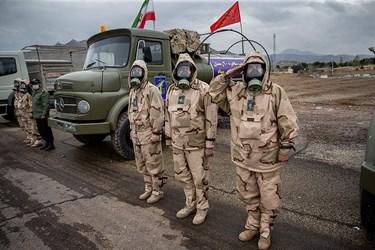نیروهای حاضر دررزمایش سراسری دفاع بیولوژیکی سپاه