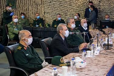 سخنرانی علی لاریجانی رئیس مجلس در رزمایش سراسری دفاع بیولوژیکی سپاه و پاکسازی محیطی