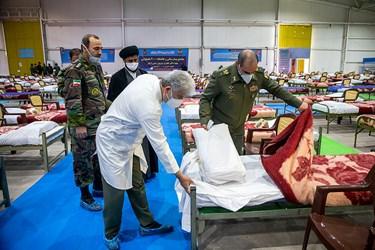 بازدید امیر جهانشاهی نقاهتگاه ۲۰۰۰ تختخوابی ارتش
