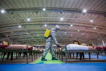 گندزدایی  نقاهتگاه ۲۰۰۰ تختخوابی ارتش