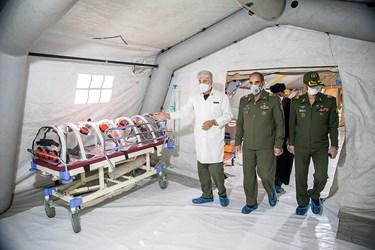 بازدید امیر جهانشاهی  از بیمارستان نقاهتگاه ۲۰۰۰ تختخوابی ارتش
