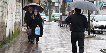 بارش باران در برخی مناطق کشور/ افزایش نسبی دما در سواحل خزر