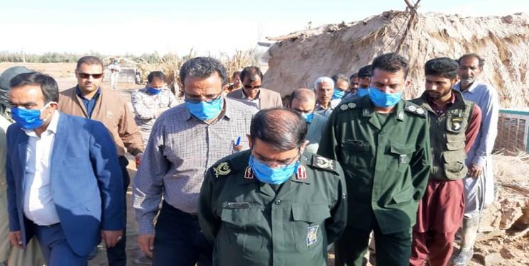 خدمات دهی قرارگاه پیشرفت و آبادانی سپاه به منطقه سیلزده ریگان